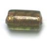 Glass Beads 12x8mm Tube Olivine Foiled Beads